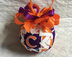 clemson ornaments etsy