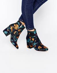 womens boots asos asos rachelle jacquard heeled ankle boots things to buy