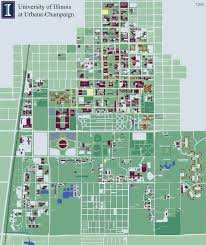 Usa Campus Map by University Of Illinois At Urbana Champaign Campus Map 1401 West