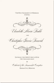 catholic wedding program flourish mongram catholic mass wedding ceremony catholic wedding