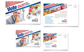 political campaign postcard template word u0026 publisher