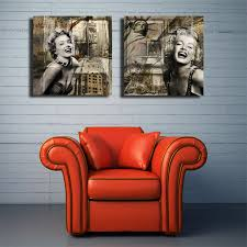 marilyn monroe home decor 2 panels wall painting marilyn monroe home decor canvas prints art