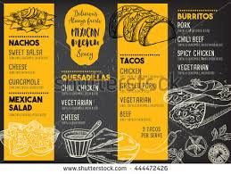 flyer menu template restaurant cafe menu template design food stock vector 289261652