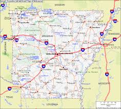 arkansa road map map of arkansas map pictures
