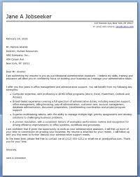 9 best images of sample cover letter administrative secretary