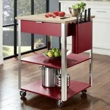 Kitchen Island With Trash Bin Venture Horizon Butcher Block Top Kitchen Cart With Trash Bin