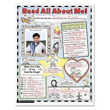scholastic instant personal poster sets read all about me 17