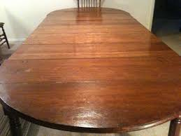 custom replacement of five 5 table leaves to a family antique