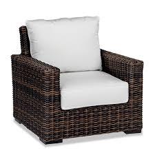 Patio Furniture Chairs Wicker Club Chair 50 Sunbrella Fabrics Hampton Java