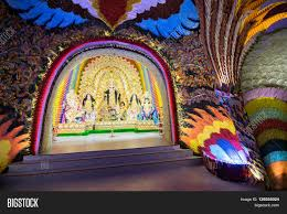 Decoration Of Durga Puja Pandal Kolkata India October 18 2015 Image U0026 Photo Bigstock