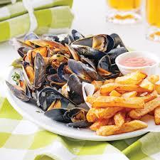 recette de cuisine belge moules frites à la belge recettes cuisine et nutrition pratico