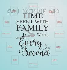 time spent with family worth every second wall letters for clock time spent with family worth every second letter for clock arrangement vinyl wall decals loading zoom