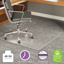 Exercise Floor Mats Over Carpet by Deflecto Execumat Intense All Day Use Chair Mat For High Pile