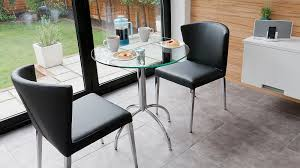 Small Glass Kitchen Tables by Modern Round Glass Kitchen Table Trendy Chrome Legs Seats 2 People