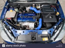 high performance ford focus ford focus rs mk1 engine bay high performance hatch car stock