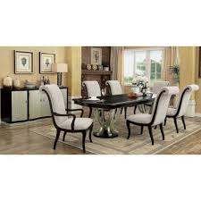 ornette contemporary style 9 piece dining table set