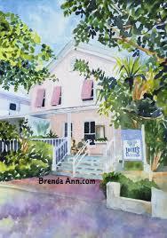 louie u0027s backyard key west watercolor print