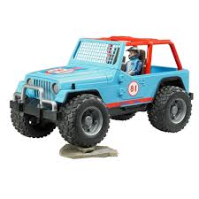 jeep blue amazon com bruder jeep cross country racer vehicle with driver