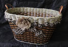 shabby chic collection laundry basket w flower foxcreek baskets