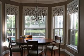 Interior Comely Dining Room Decoration Using Cream Bamboo Bay - Dining room with bay window