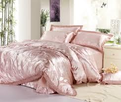 Practical Bedding Set Bedding Luxury Pink Jacquard Satin Cotton Silk Bedding Sets