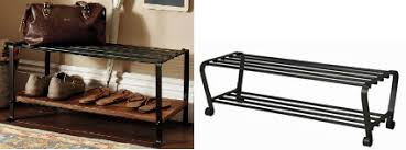 Pottery Barn Shoe Bench Knockout Knockoffs Pottery Barn Blacksmith Entry Mudroom The