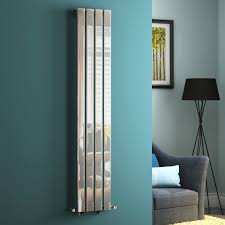 tall vertical flat panel chrome column designer radiators angled