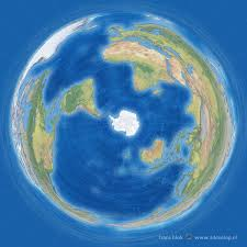 Earth World Map by The Antarctic Projection A Penguin U0027s World Map 3develop