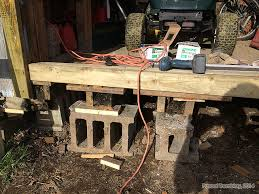 How To Build A Simple Shed Ramp by Ledger Board Stringers And Shed Ramp Decking Diy Instructions