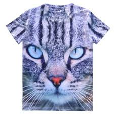 realistic kitty cat face shaped graphic print t shirt u2013 dotoly