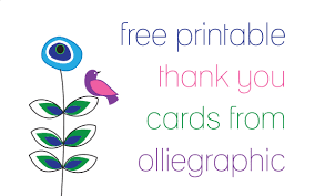 thank you card for free olliegraphic thank you cards oh my handmade