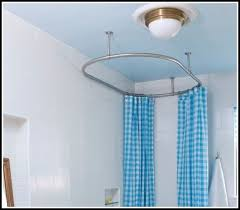 Ceiling Mount For Shower Curtain Rail Oval Shower Curtain Rod Medium Image For Houndstooth Shower