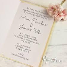 violet laser cut personalised name flowers wedding invitations