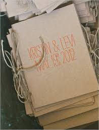 kraft paper wedding programs san diego hayfield wedding from photography
