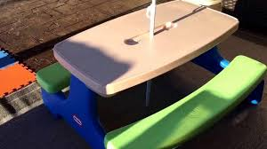 little tikes fold u0026 store picnic table review youtube