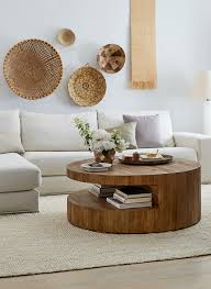 Wood Living Room Tables A Light And Airy Neutral Living Room With Modern And Organic