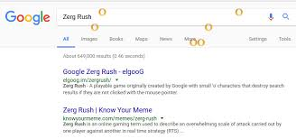 Zerg Rush Know Your Meme - 6 fun games that you can play directly from google search better