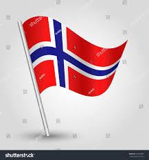 vector 3d norwegian waving flag on stock vector 227873083