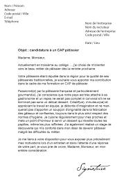 lettre motivation apprentissage cuisine lettre de motivation cap pâtissier modèle de lettre