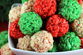christmas balls christmas rice krispie treat bites two