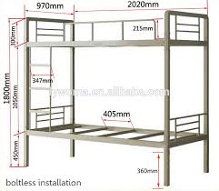 Height Adjustable Three Tier BedTriple Bunk BedSchool Student - Height of bunk bed
