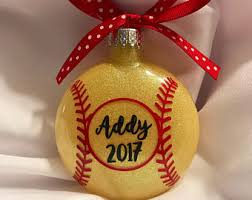 personalized softball ornament softball player ornament