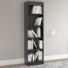 Bookcase 5 Shelf South Shore Pure Black Axess 5 Shelf Bookcase Free Shipping