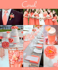 coral color coral wedding color combination options you don t want to