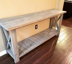 ana white build a rustic x coffee table and sofa table make