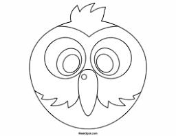 printable parrot mask