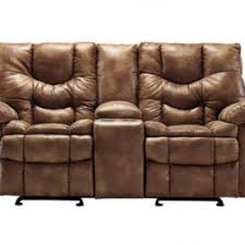 Reclining Loveseat W Console Leather Reclining Loveseats
