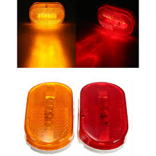 led side marker lights for trucks car truck red yellow amber 6 led beads rectangle clearance side