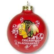 chicago blackhawks striped glass ornament black chicago