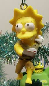 the simpsons tree ornament set featuring homer
